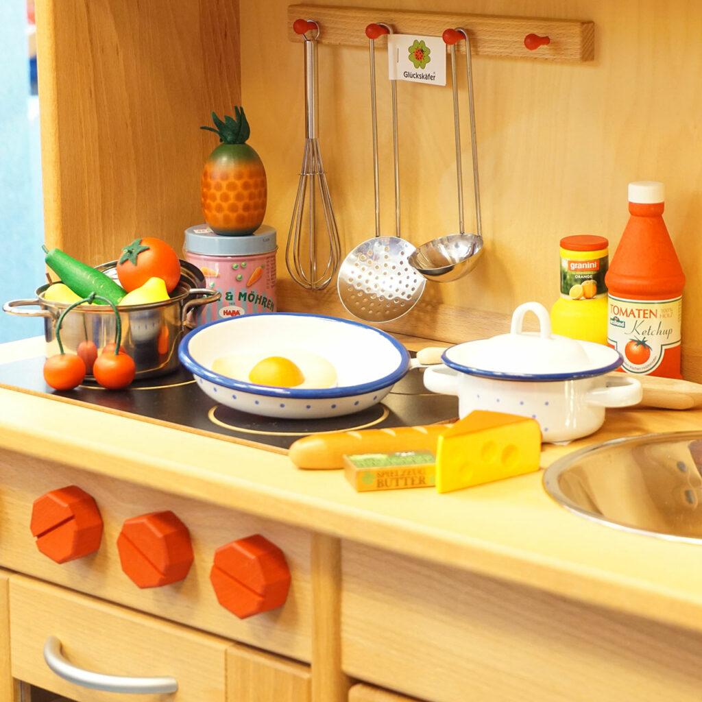 Kinderküchen aus Holz, Kaufladen, Puppenhaus